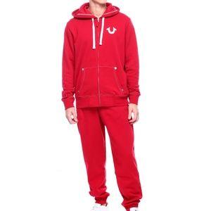 True Religion Jeans Men's Classic Red Tracksuit